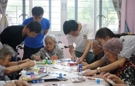 Art fosters communication between young and old